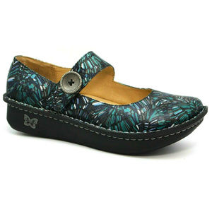 Alegria Womens Paloma Blue Collage Shoes 40 9.5/10